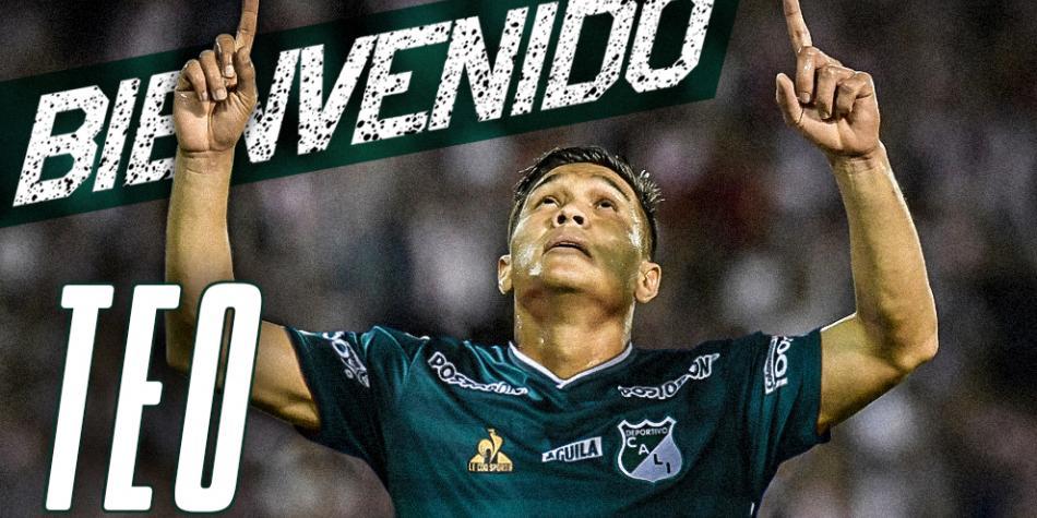 Deportivo Cali anunció a Teófilo Gutiérrez como su refuerzo estelar