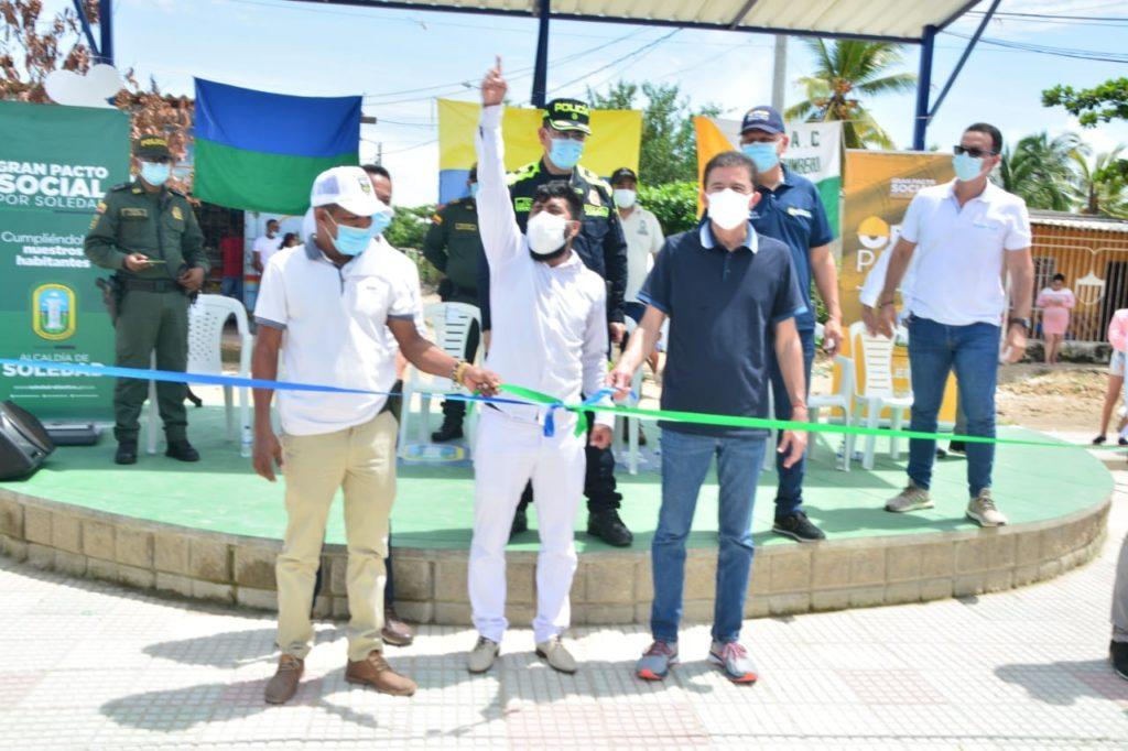 Comunidad de Cachimbero en Soledad celebró la inauguración de nuevo parque