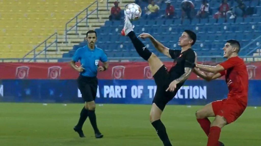 Tras 5 meses sin partidos oficiales, James Rodríguez debutó con el Al Rayyan